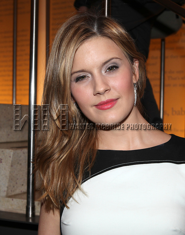 Maggie Grace attending the World Premiere Off-Broadway Opening Night Performance of 'The Flick' at Playwrights Horizons in New York City on 3/12/2013