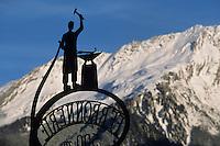 Europe/France/Rhone-Alpes/73/Savoie/Env de Courchevel : Enseigne d'un forgeron
