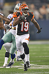 Cincinnati Bengals wide receiver Brandon Tate (19) in action during the pre-season game between the Cincinnati Bengals and the Dallas Cowboys at the AT & T stadium in Arlington, Texas. Dallas leads Cincinnati 14 to 7 at halftime.