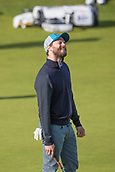 6th October 2017, Carnoustie Golf Links, Carnoustie, Scotland; Alfred Dunhill Links Championship, second round; Actor Jamie Dornan reacts after missing a putt on the 2nd green during the second round at the Alfred Dunhill Links Championship on the Championship Links, Carnoustie