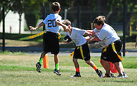 The PJFL Intermediate Bears battle their opponent ay Hart Middle School in Pleasanton Saturday Sept. 13, 2014. (Photo by Alan Greth / AGP Photography)