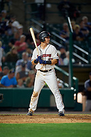 Rochester Red Wings Brian Schales (13) bats during an International League game against the Scranton/Wilkes-Barre RailRiders on June 24, 2019 at Frontier Field in Rochester, New York.  Rochester defeated Scranton 8-6.  (Mike Janes/Four Seam Images)