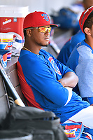 Tennessee Smokies pitcher Oscar De La Cruz during a game against the Birmingham Barons at Smokies Stadium on May 6, 2018 in Kodak, Tennessee. The Smokies defeated the Barons 6-2. (Tony Farlow/Four Seam Images)