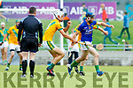 Flor McCarthy Kilmoyley in action against Michael Conway Lixnaw in the Kerry County Senior Hurling championship Final between Kilmoyley and Lixnaw at Austin Stack Park on Sunday.