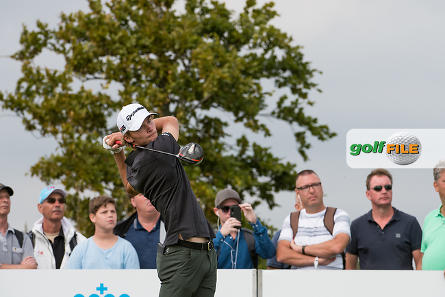 Nicolai Hojgaard (DEN) in action on the 12th hole during the final round at the KLM Open, The International, Amsterdam, Badhoevedorp, Netherlands. 15/09/19.<br /> Picture Stefano Di Maria / Golffile.ie<br /> <br /> All photo usage must carry mandatory copyright credit (© Golffile | Stefano Di Maria)