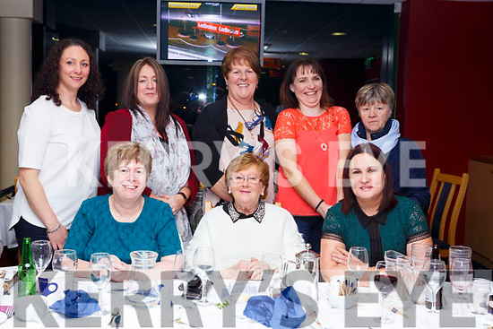 The staff of St Marys of the Angels Beaufort having a night out in the Kingdom Greyhound track on Friday night last,<br /> Seated l-r, Angela O&rsquo;Sullivan, Bridie O&rsquo;Sullivan and Maria Cronin. Standing l-r, Sinead O&rsquo;Shea, Kathleen Gallagher, Geraldine O&rsquo;Grady, Kathleen Falvey and Theresa O&rsquo;Sullivan.