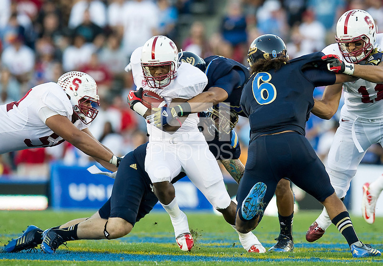 PASADENA, CA - November 24, 2012:  The Stanford Cardinal vs the UCLA Bruins at the Rose Bowl in Pasadena, CA. Final score Stanford Cardinal 34, UCLA Bruins 17.