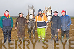 OLD TIME; Still plouhing the old style at the Abbeydorney Ploughing was Moss Trant,Camp helping Moss out l-r: Aaron Murnane (Kilflynn), Gabriel Trant, martin Dee, Moss Trand (Camp) and Paddy Murnane (Kilflynn).