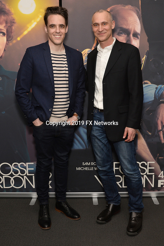 "NEW YORK - APRIL 7: Steven Levenson and Joe Fields attend the screening of FX's ""Fosse Verdon"" presented by FX Networks, Fox 21 Television Studios, and FX Productions at the Museum of Modern Art on April 7, 2019 in New York City. (Photo by Anthony Behar/FX/PictureGroup)"