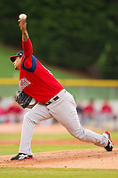 Starting pitcher Felix Doubront #44 of the Pawtucket Red Sox in action against the Charlotte Knights at Knights Stadium on August 11, 2011 in Fort Mill, South Carolina.  The Red Sox defeated the Knights 3-2.   (Brian Westerholt / Four Seam Images)