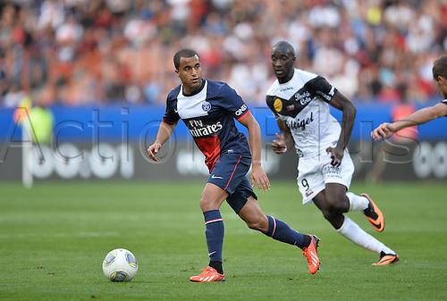 31.08.2013. Paris, France. French League football. Paris St Germain versus Guingamp Aug 31st.  Lucas (psg)