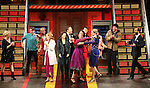 Kathleen Marshall, James Snyder, Chesney Snow, Erin Mackay, Margot Seibert, Justin Guarini, Kristen Anderson-Lopez, Moya Angela, Telly Leung, Sara Wordsworth, David Abeles and Russ Kaplan during the Broadway Opening Night Performance Curtain Call for 'In Transit' at Circle in the Square Theatre on December 11, 2016 in New York City.