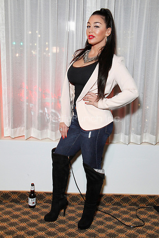 SPRINGFIELD, PA - JANUARY 16 : Natalie Didonato, newest VH1 Mob Wives cast member, pictured hosting Damon Feldman's Ring Girl Contest at Central Park in Springfield Pa on January 16, 2015. Credit: Star Shooter / MediaPunch