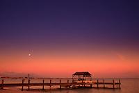 Sunset dock, Carribean