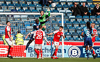 Fleetwood Town's goalkeeper Alex Cairns saves<br /> <br /> Photographer Andrew Kearns/CameraSport<br /> <br /> The EFL Sky Bet League One - Wycombe Wanderers v Fleetwood Town - Saturday 4th May 2019 - Adams Park - Wycombe<br /> <br /> World Copyright © 2019 CameraSport. All rights reserved. 43 Linden Ave. Countesthorpe. Leicester. England. LE8 5PG - Tel: +44 (0) 116 277 4147 - admin@camerasport.com - www.camerasport.com