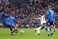 Mousa Dembele of Tottenham gets in a shot during Tottenham Hotspur vs AFC Wimbledon, Emirates FA Cup Football at Wembley Stadium on 7th January 2018