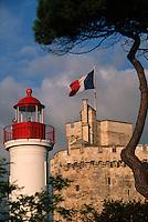 France/17/Charente-Maritime/La Rochelle: Le vieux port, le phare et la tour Saint Nicolas