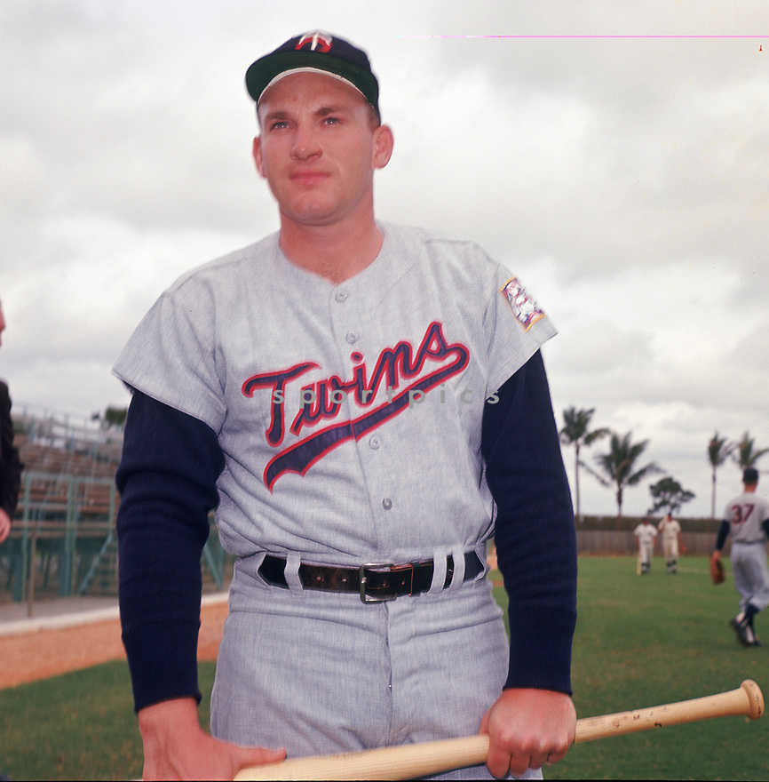 Minnesota Twins Harmon Killebrew(14) portrait  from his 1962 season. Harmon Killebrew played for 21 years with 2 different teams was a 13-time All-Star, 1969 American League MVP and was inducted to the Baseball Hall of Fame in 1984.<br /> (SportPics)
