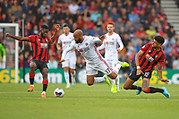 Philip Billing of AFC Bournemouth right tackles David McGoldrick of Sheffield United during AFC Bournemouth vs Sheffield United, Premier League Football at the Vitality Stadium on 10th August 2019