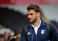 Orestis Karnezis of Watford arrives prior to the game during the Premier League match between Swansea City and Watford at The Liberty Stadium, Swansea, Wales, UK. Saturday 23 September 2017