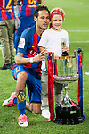 FC Barcelona's forward Neymar Santos Jr with his daughter during Copa del Rey (King's Cup) Final between Deportivo Alaves and FC Barcelona at Vicente Calderon Stadium in Madrid, May 27, 2017. Spain.<br /> (ALTERPHOTOS/BorjaB.Hojas)