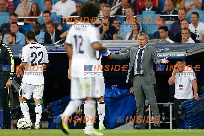 Real Madrid's Jose Mourinho during Champions League match on september 18th 2012...Photo: Cesar Cebola  / ALFAQUI .Madrid 18/9/2012 Stadio Santiago Bernabeu.Football Calcio 2012/2013 Champions League.Real Madrid Vs Manchester City .Foto Insidefoto