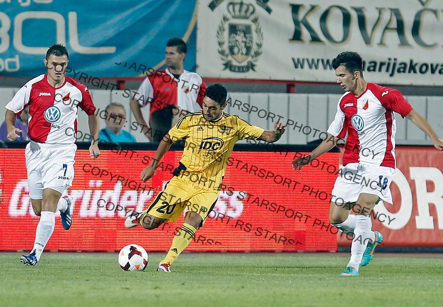 Mendes Kadu Novi Sad, Serbia, 22.8.2013. UEFA Europa League Vojvodina - Sheriff (credit: Pedja Milosavljevic  / thepedja@gmail.com / +381641260959)