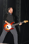 Linkin Park - bass guitarist Dave Farrell performing live main stage as the headliner on Day One of the inaugural Sonisphere Festival held in the grounds of Knebworth House, Knebworth, UK - 01 Aug 2009 - Photo by: Zaine Lewis /IconicPix