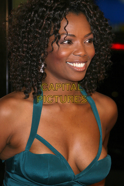 "VANESSA WILLIAMS.""Blood Diamond"" Premiere - Arrivals presented by Warner Brothers in association with Virtual Studios held at the Grauman's Chinese Theater, Hollywood, California, USA..December 6th, 2006.headshot portrait cleavage nipple blue green turquoise .CAP/ADM/ZL.©Zach Lipp/AdMedia/Capital Pictures"
