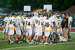 Placentia, CA 05/14/10 - The Foothill Knights huddle before the start of the game against Mira Costa.
