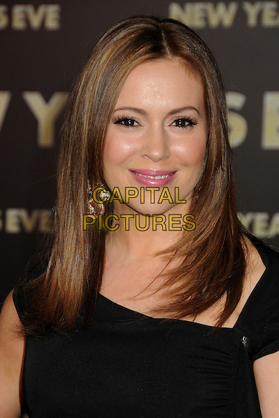 Alyssa Milano.'New Year's Eve' Los Angeles premiere at  Grauman's Chinese Theatre, Hollywood, California, USA..5th December 2011.headshot portrait black.CAP/ADM/BP.©Byron Purvis/AdMedia/Capital Pictures.