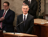 Jens Stoltenberg, Secretary General of the North Atlantic Treaty Organization (NATO) stands at the rostrum prior to addressing a joint session of the United States Congress in the US Capitol in Washington, DC on Wednesday, April 3, 2019.<br /> Credit: Ron Sachs / CNP