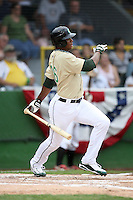June 24, 2009: Jeremy Barfield of the Kane County Cougars at the 2009 Midwest League All Star Game at Alliant Energy Field in Clinton, IA.  Photo by: Chris Proctor/Four Seam Images