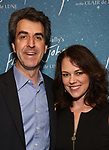 """Jason Robert Brown and Georgia Stitt attends The """"Frankie and Johnny in the Clair de Lune"""" - Opening Night Arrivals at the Broadhurst Theatre on May 29, 2019  in New York City."""