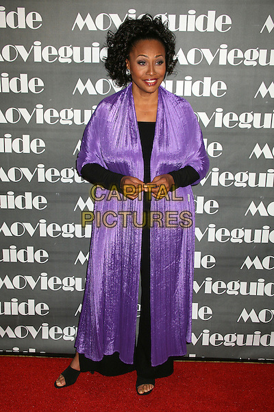 JENIFER LEWIS.15th Annual Faith & Values Movieguide Awards at the Beverly Wilshire Hotel, Beverly Hills, California, USA..February 20th, 2007.full length purple coat Jennifer .CAP/ADM/BP.©Byron Purvis/AdMedia/Capital Pictures