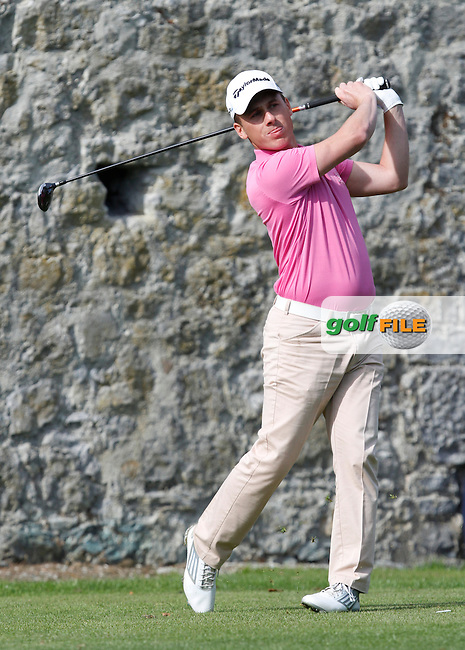 Cian McNamara (Monkstown Golf Club) on the 2nd tee during Round 1 of the 104th Irish PGA Championship at Adare Manor Golf Club on Thursday 2nd October 2014.<br /> Picture:  Thos Caffrey / www.golffile.ie