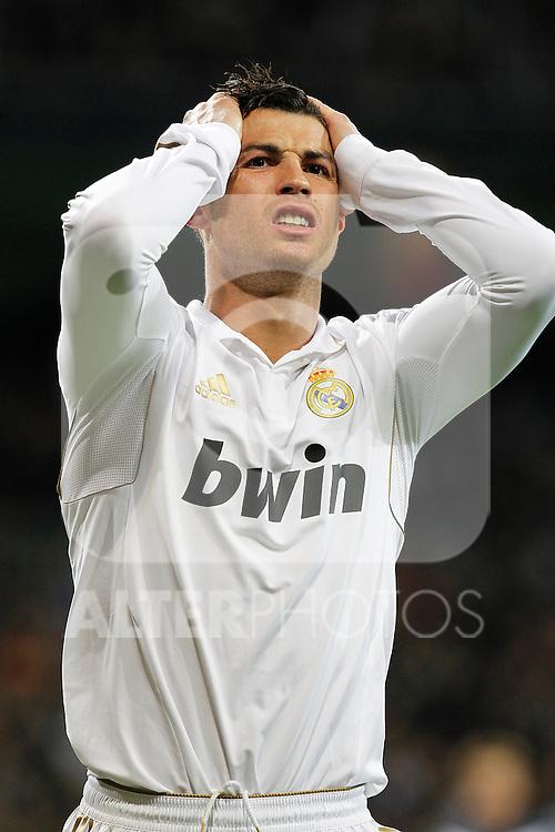 Real Madrid's Cristiano Ronaldo during la Liga match on march 18th 2012...Photo: Alex Cid-Fuentes / ALFAQUI