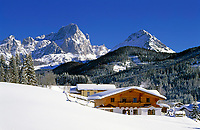 Salzburger Land, Winterlandschaft bei Filzmoos am Dachsteingebirge | Salzburger Land, Winter Scenery near Filzmoos at Dachstein Mountains