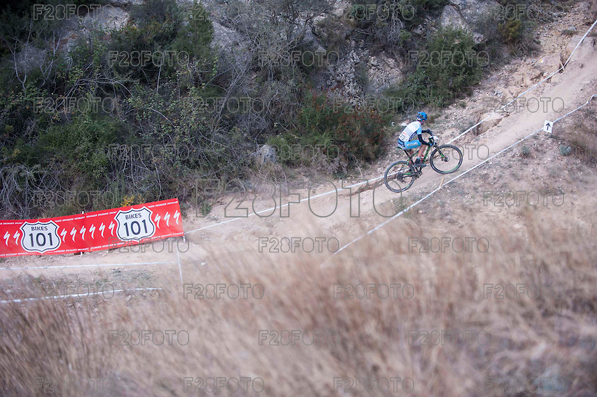 Chelva, SPAIN - MARCH 6: Francisco  during Spanish Open BTT XCO on March 6, 2016 in Chelva, Spain