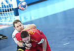 13.01.2018., Croatia, Arena Zagreb, Zagreb - European Handball Championship, Group C, Round 1, Germany - Montenegro. LAZOVIC Vuk <br /> <br /> Foto &copy; nordphoto / Sanjin Strukic/PIXSELL