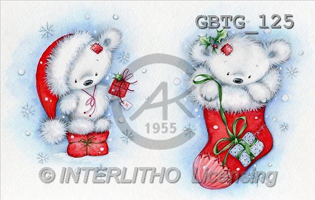 Theresa, CHRISTMAS ANIMALS, paintings(GBTG125,#XA#) stickers Weihnachten, Navidad, illustrations, pinturas