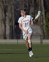 Boston College attacker Brittany Wilton (11). University at Albany defeated Boston College, 11-10, at Newton Campus Field, on March 30, 2011.