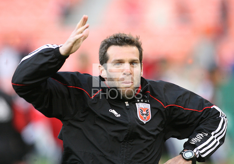 Ben Olsen of D.C. United during an MLS match against the Chicago Fire on April 17 2010, at RFK Stadium in Washington D.C. Fire won 2-0.