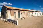 Workers housing at Las Salinas, La Almadraba de Monteleva, Cabo de Gata natural park, Nijar, Almeria, Spain