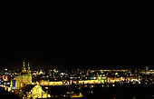 Prague, Czech Republic. The illuminated city by night.