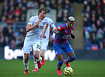 Sander Berge of Sheffield Utd chases down Patrick van Aanholt of Crystal Palace during the Premier League match at Selhurst Park, London. Picture date: 1st February 2020. Picture credit should read: Paul Terry/Sportimage