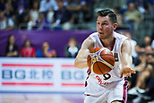 7th September 2017, Fenerbahce Arena, Istanbul, Turkey; FIBA Eurobasket Group D; Latvia versus Turkey; Shooting Guard Dairis Bertans #9 of Latvia passes the ball