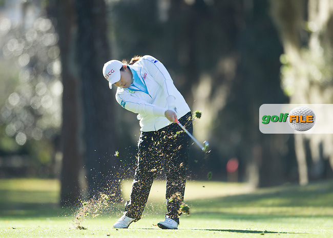 Ariya Jutanugarn during the Second day of the Second round of the LPGA Coates Golf Championship 2016 , from the Golden Ocala Golf and Equestrian Club, Ocala, Florida. 5/2/16<br /> Picture: Mark Davison | Golffile<br /> <br /> <br /> All photos usage must carry mandatory copyright credit (&copy; Golffile | Mark Davison)
