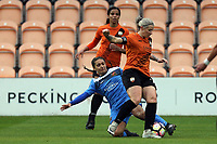 Emma Beckett of London Bees and Rhema Lord-Mears of Sheffield FC Ladies during London Bees vs Sheffield FC Ladies, FA Women's Super League FA WSL2 Football at the Hive Stadium on 12th May 2018