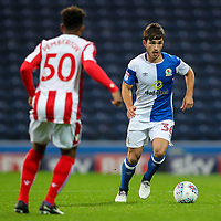 Blackburn Rovers' Jack Doyle competing with `Stoke City U23s' Tre Pemberton <br /> <br /> Photographer Andrew Kearns/CameraSport<br /> <br /> The EFL Checkatrade Trophy - Blackburn Rovers v Stoke City U23s - Tuesday 29th August 2017 - Ewood Park - Blackburn<br />  <br /> World Copyright &copy; 2018 CameraSport. All rights reserved. 43 Linden Ave. Countesthorpe. Leicester. England. LE8 5PG - Tel: +44 (0) 116 277 4147 - admin@camerasport.com - www.camerasport.com
